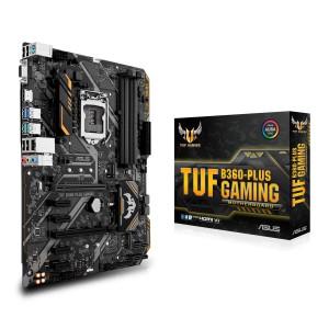 Дънна платка ASUS TUF B360-PLUS GAMING, B360, LGA 1151, PCI-E (HDMI, VGA D-SUB), 6 x SATA 6Gb/s, 6 x USB 3.1/6 x USB 2.0, Realtek ALC887 8-Channel High Definition Audio CODEC, ATX (на изплащане), (безплатна доставка)