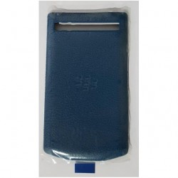 Leather Battery Door Cover BlackBerry Porsche Design P9983 - Blue Grain (на изплащане), (безплатна доставка)