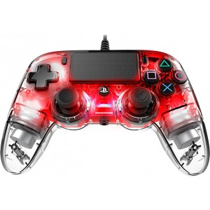 Nacon Wired Compact Controller PC/PS4 Illuminated Red (на изплащане), (безплатна доставка)