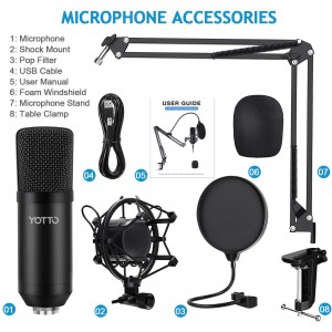 YOTTO Professional USB Streaming Microphone Set [YCM-700] (на изплащане), (безплатна доставка)