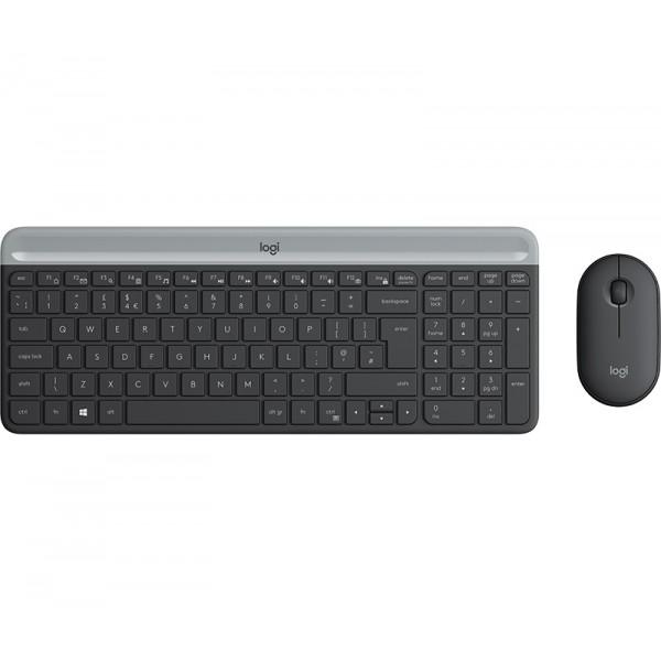 Logitech Slim Wireless Keyboard and Mouse Combo MK470 - GRAPHITE [920-009204] (на изплащане)