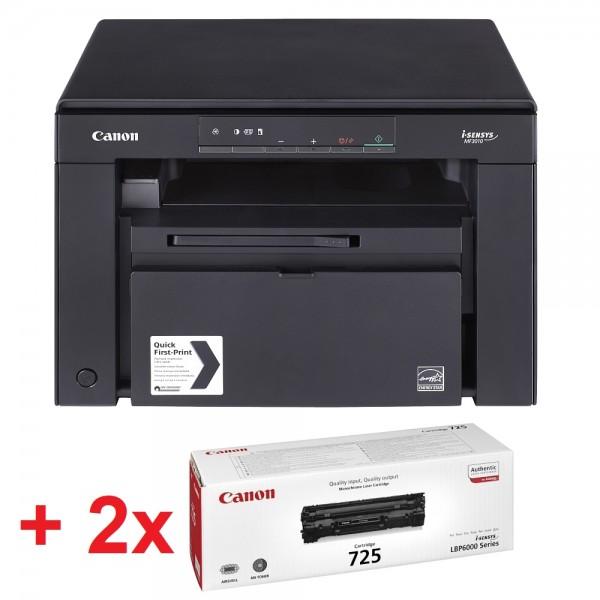 Canon i-SENSYS MF3010 Printer/Scanner/Copier + 2x Canon CRG725 Toner Cartridge [5252B004AB_2X3484B002AA] (на изплащане)